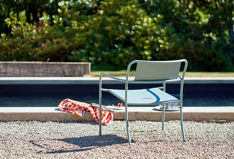 Outdoor  PATIO lounge armchair by TOLIX