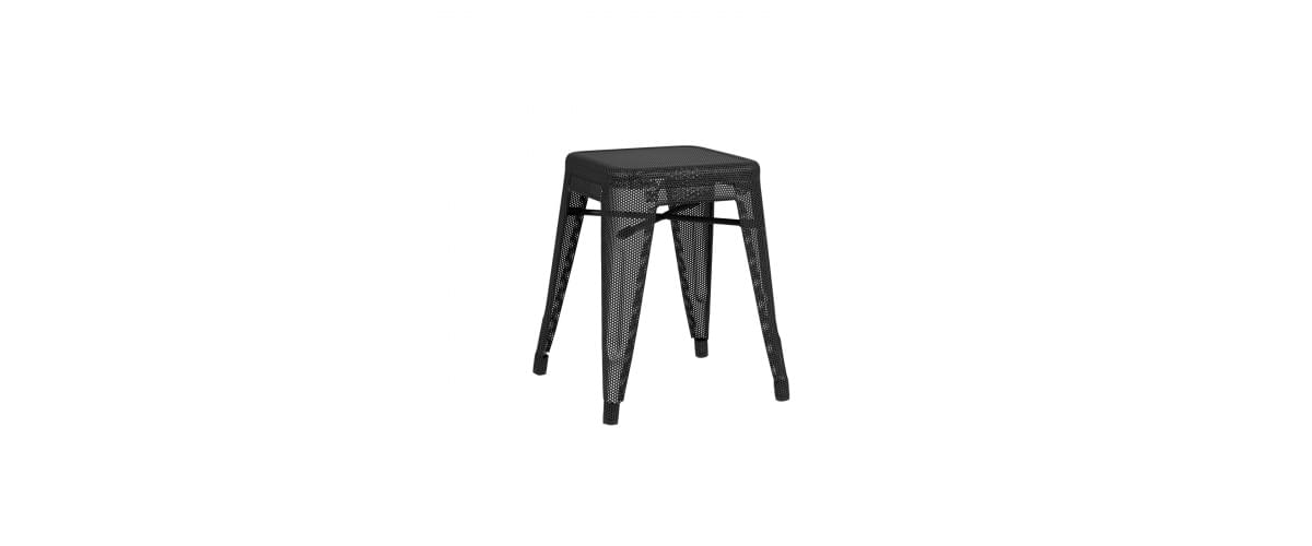 Tabouret contemporain H Perforé TOLIX® | design Chantal Andriot