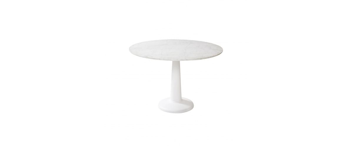 Table bistrot intérieure marbre et acier | Table design made in France